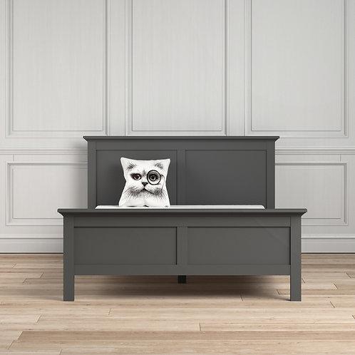 Paris King Bed (160 X 200) In Matt Grey
