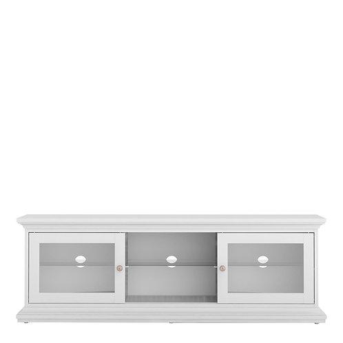 Paris Tv Unit - Wide - 2 Doors 1 Shelf In White