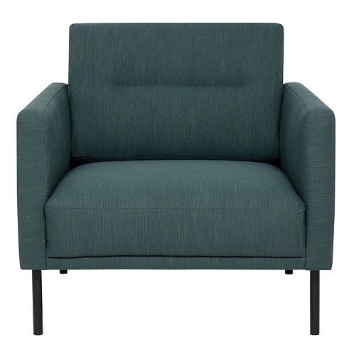 Larvik Armchair Dark Green With Black Legs