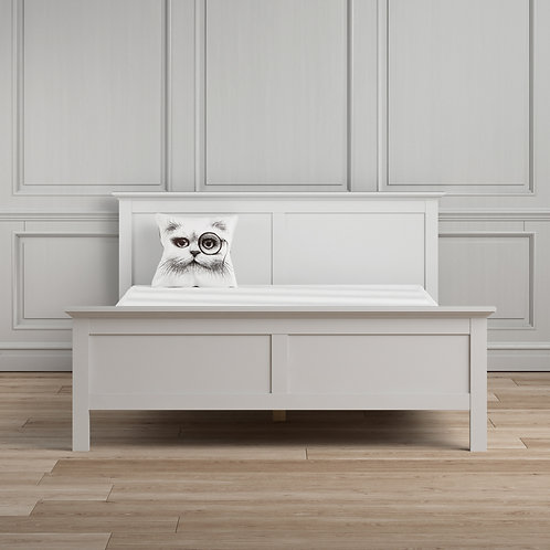 Paris Super King Bed (180 X 200) In White