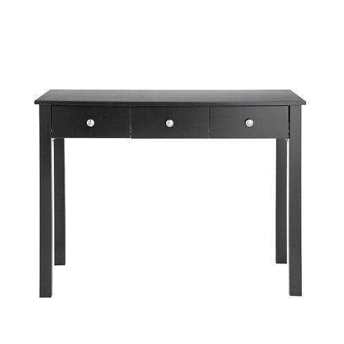Florence 3 Drawer Dressing Table In Black