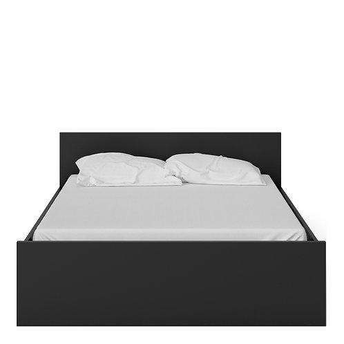 Naia Euro King Bed (160 x 200) in Black Matt