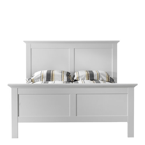 Paris Double Bed (140 X 200) In White
