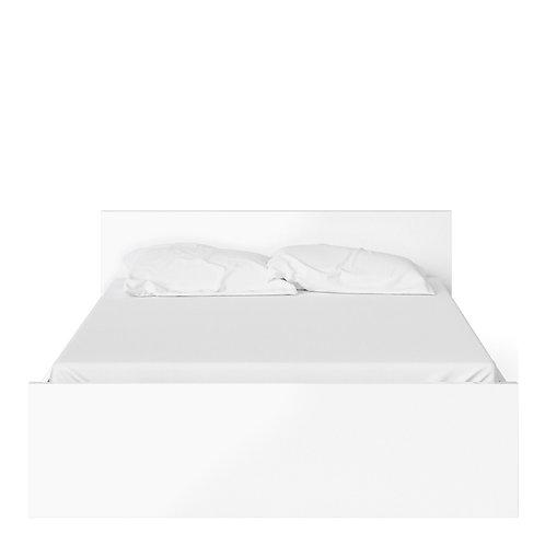 Naia Euro King Bed (160CM X 200CM) In White High Gloss
