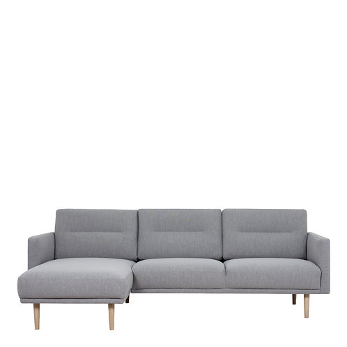 Larvik Chaiselongue Left Handed Sofa Grey With Oak Legs
