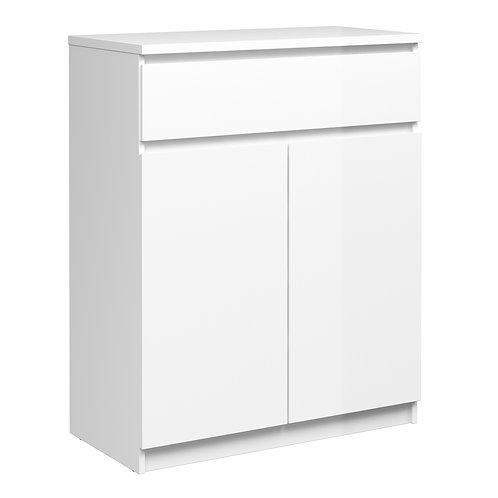Naia Sideboard  1 Drawer 2 Doors In White High Gloss