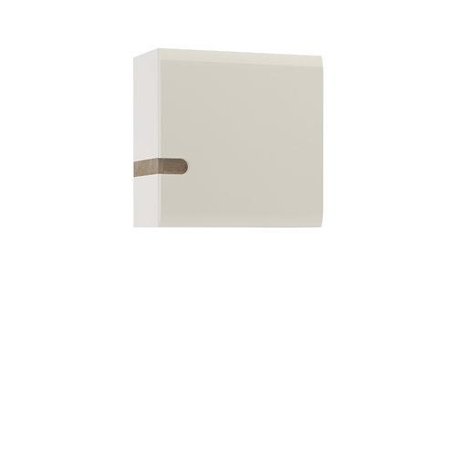 Chelsea Living 1 Door Wall Cupboard In White With An Truffle Oak Trim