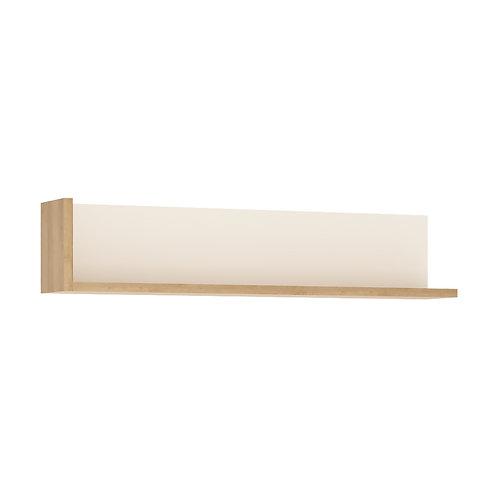 Lyon 120CM Wall Shelf In Riviera Oak/White