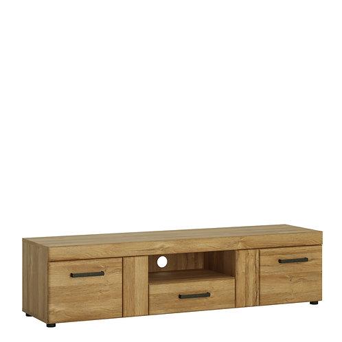 Cortina 2 Door 1 Drawer Wide Tv Cabinet In Grandson Oak