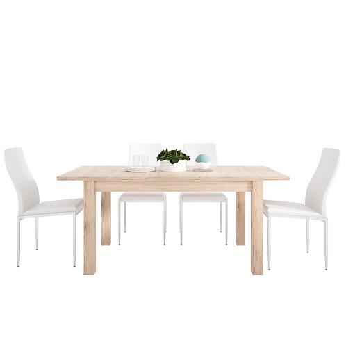 Kensington Extending Dining Table + 6 Milan High Back Chair