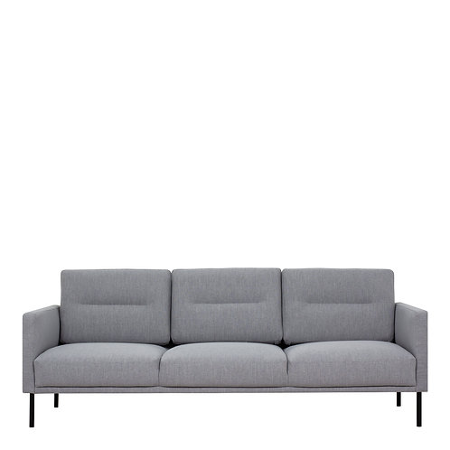 Larvik 3 Seater Sofa - Grey, Black Legs