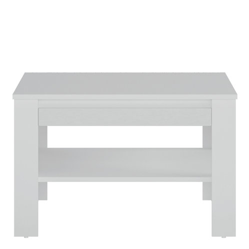 Novi Coffee Table With Shelf In Alpine White