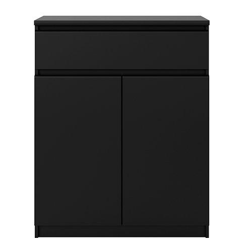 Naia Sideboard 1 Drawer 2 Doors In Black Matt