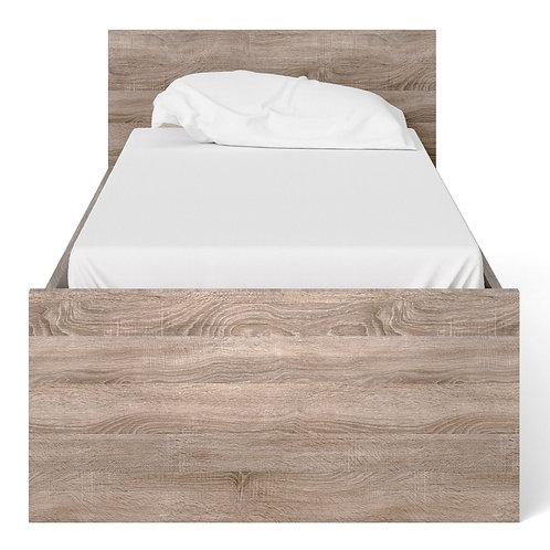 Naia Single Bed (90CM X 190CM) In Truffle Oak