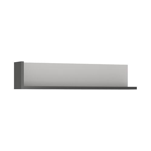 Lyon 120CM Wall Shelf In Platinum/Light Grey
