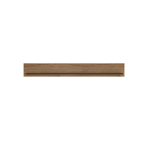 Brolo Wall Shelf 197Cm With The Walnut And Dark Panel Finish