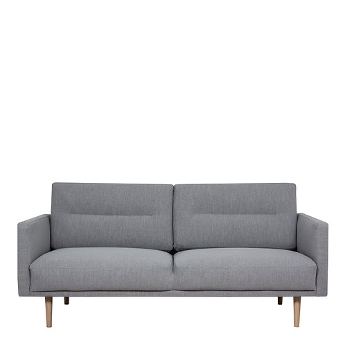 Larvik 2.5 Seater Sofa - Grey, Oak Legs