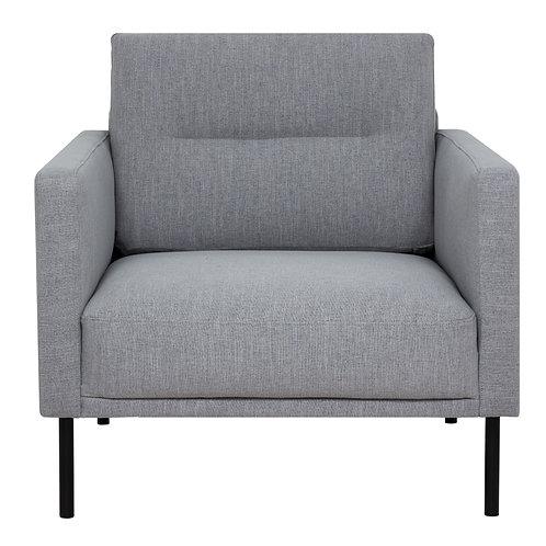 Larvik Armchair Grey With Black Legs