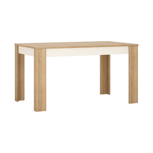 Lyon Medium Extending Dining Table 140/180 CM In Riviera Oak/White High Gloss