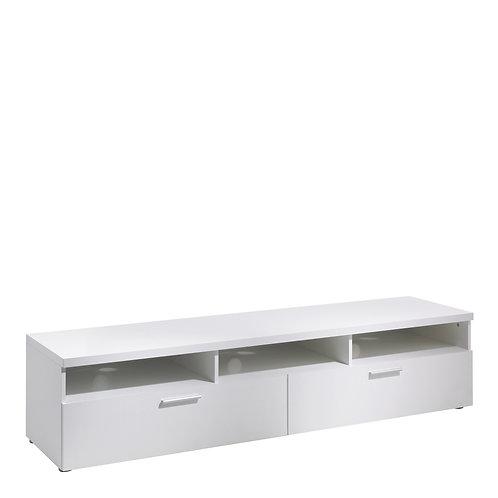 Napoli TV Unit 2 Drawers 3 Shelves In White