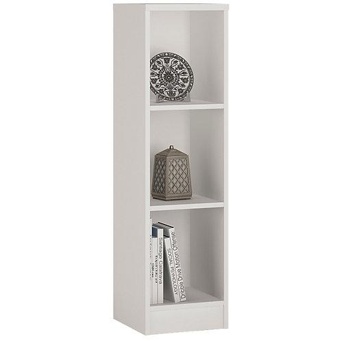 4 You Medium Narrow Bookcase In Pearl White