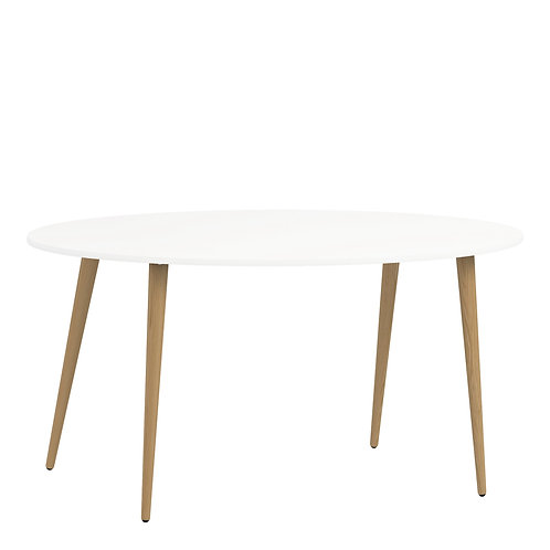 Oslo Dining Table - Large (160Cm) In White And Oak
