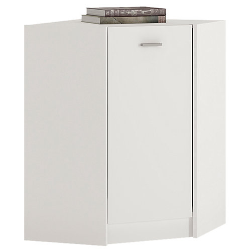 4 You Corner Cupboard In Pearl White