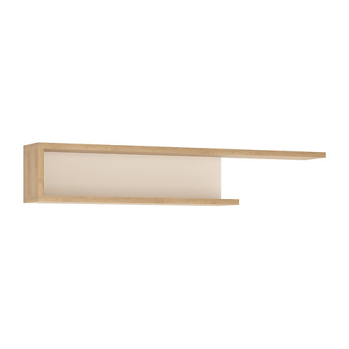 Lyon 140CM Wall Shelf In Riviera Oak/White