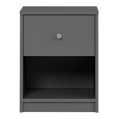 May Bedside 1 Drawer In Grey
