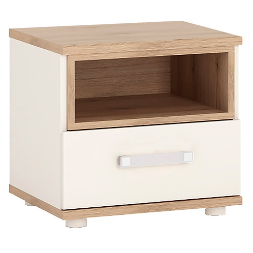 4Kids 1 Drawer Bedside Cabinet With Opalino Handles