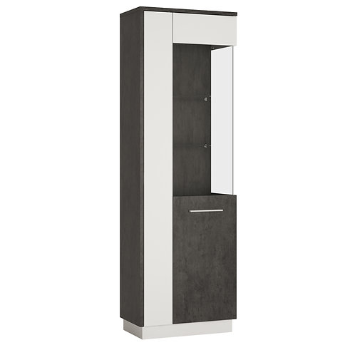 Zingaro Tall Glazed Right Handed Display Cabinet