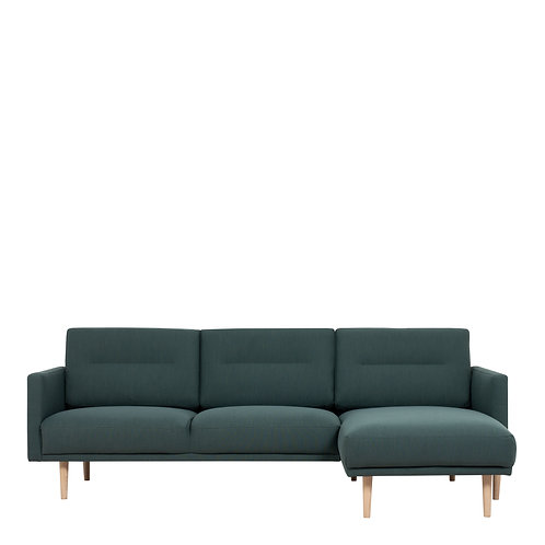 Larvik Chaiselongue Right Handed Sofa Dark Green With Oak Legs