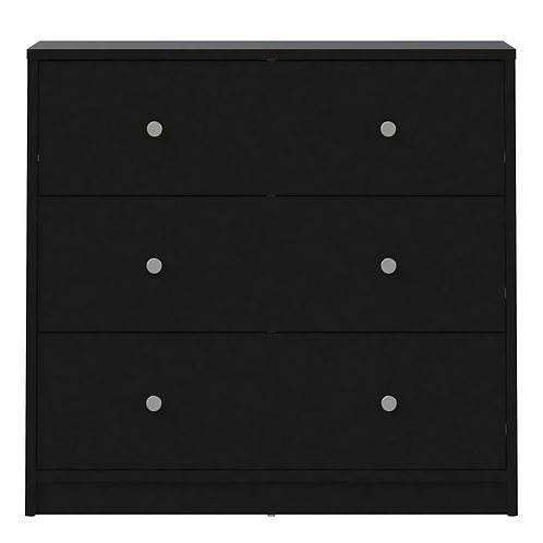 May Chest Of 3 Drawers In Black