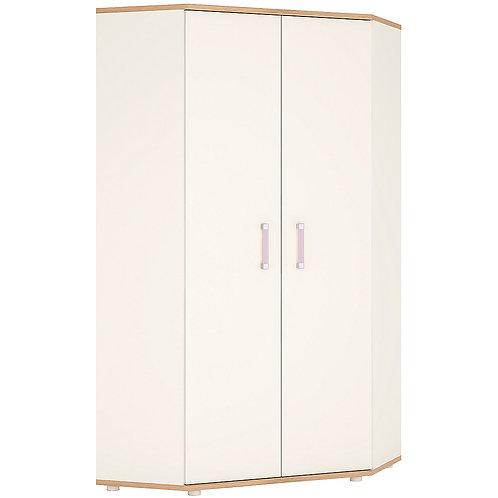 4Kids Corner Wardrobe With Lilac Handles