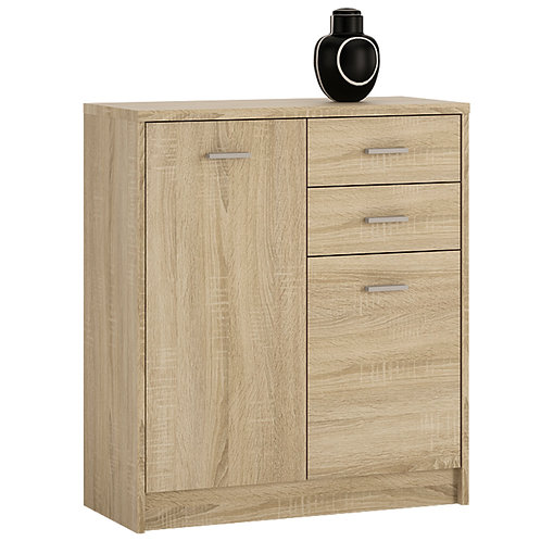 4 You 2 Door 2 Drawer Cupboard In Sonama Oak