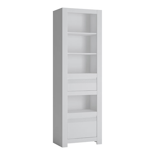 Novi 2 Drawer Bookcase In Alpine White