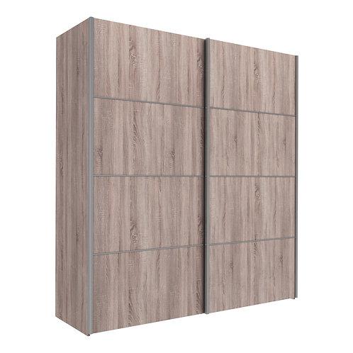 Verona Sliding Wardrobe 180cm in Truffle Oak with Truffle Oak Doors