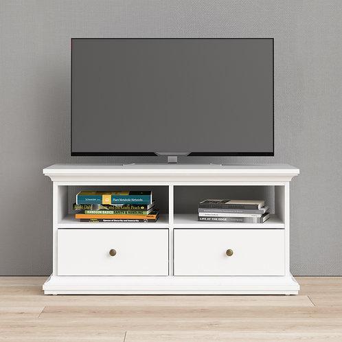 Paris Tv Unit - 2 Shelves 2 Drawers In White