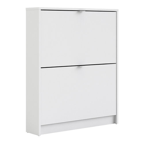Shoe Cabinet With 2 Tilting Doors And 1 Layer