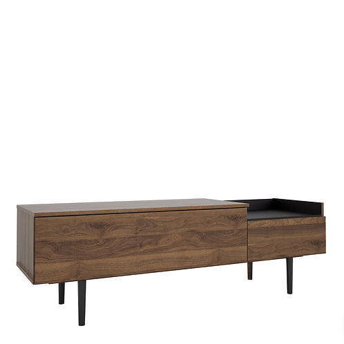 Unit Sideboard 2 Drawers In Walnut And Black