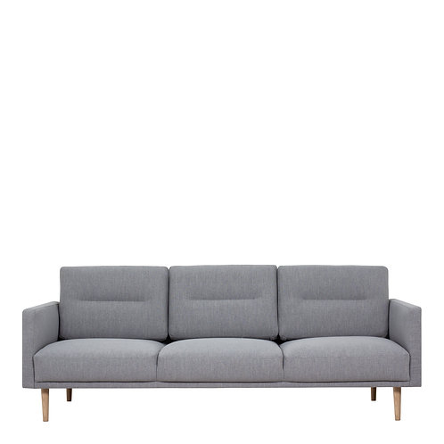 Larvik 3 Seater Sofa Grey With Oak Legs