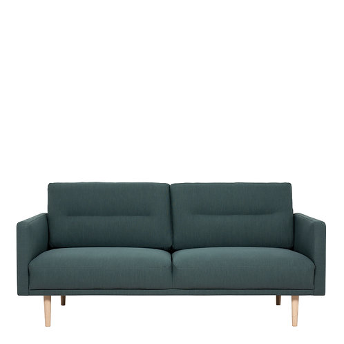 Larvik 2.5 Seater Sofa - Dark Green, Oak Legs