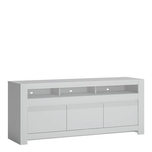 Novi 3 Door TV Cabinet In Alpine White