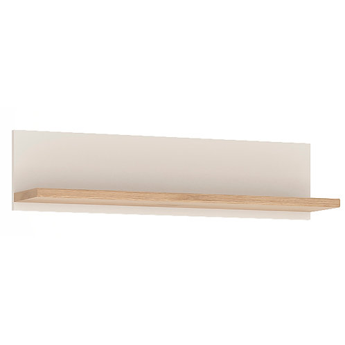 4Kids Wall Shelf In Light Oak And White High Gloss 81 CM