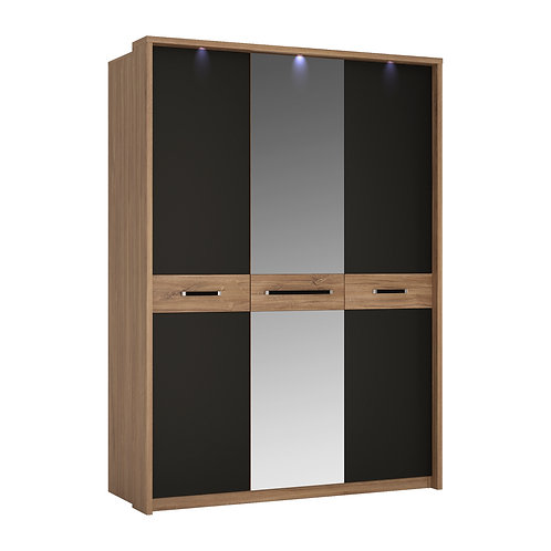 Monaco 3 Door Wardrobe With Mirror Door