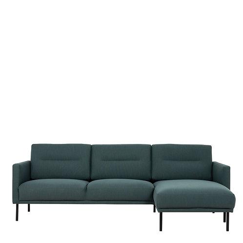 Larvik Chaiselongue Right Handed Sofa Dark Green With Black Legs