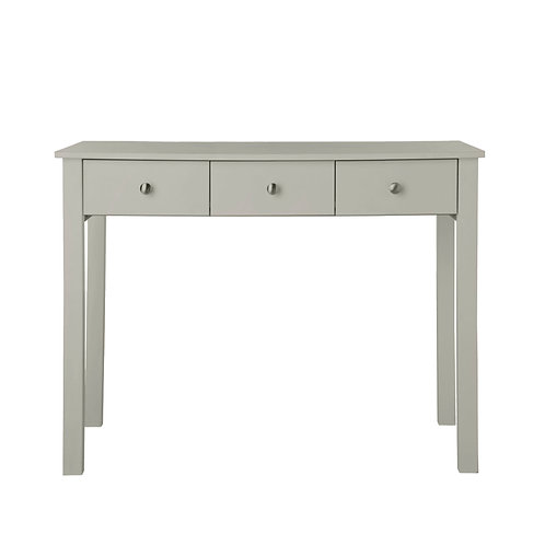 Florence 3 Drawer Dressing Table In Soft Grey
