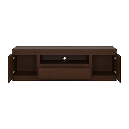 Pello 166 Cm 2 Door 1 Drawer Wide Tv Cabinet In Dark Mahogany
