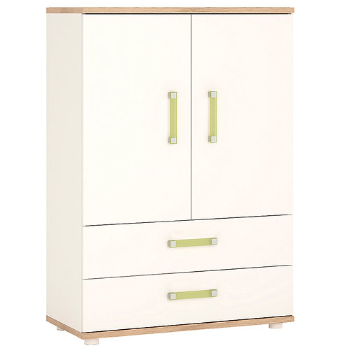 4Kids 2 Door 2 Drawer Cabinet With Lemon Handles