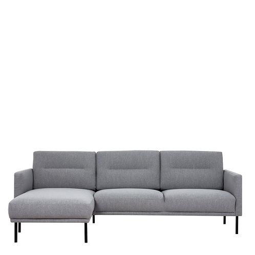Larvik Chaiselongue Left Handed Sofa Grey With Black Legs